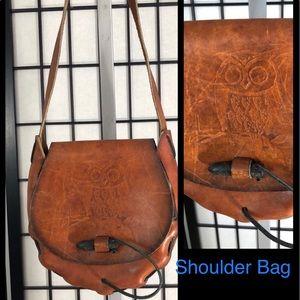 Handbags - Unique Leather handmade satchel shoulder bag